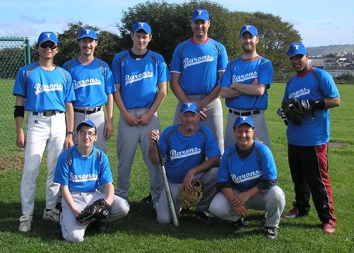 The first ever Torbay Barons team, before their game against Guildford Mavericks. 25/09/2011